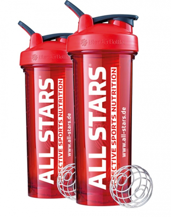 ALL STARS Blender Bottle Pro 32 TRITAN, rot 700ml, inkl. Blender Ball