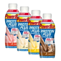 POWERBAR PROTEINPLUS SPORTSMILK, PET, 24x500ml Flaschen div.Aromen