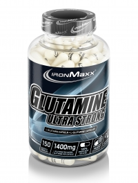 IRONMAXX Glutamin Ultrastrong, 150 Kapseln à 1400mg, Neutral