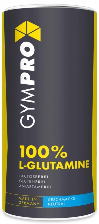 GYMPRO L-Glutamin Powder, 500g Dose, Neutral
