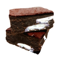 OAT KING Hafer-Brownie GROWNIE, 1x 100g, Double Belgian Chocolate