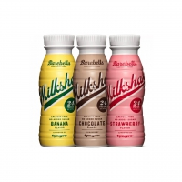 BAREBELLS Protein Milkshake, 8 x 330 ml, Strawberry