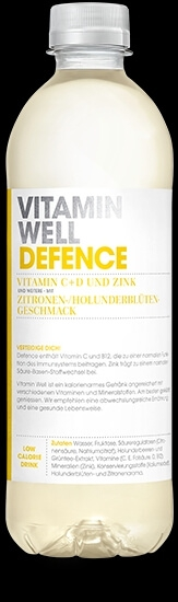 VITAMIN WELL Defence 12 x 500ml, Zitronen-Holunderblüten