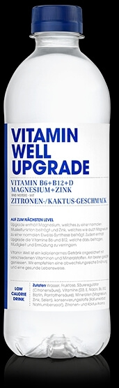 VITAMIN WELL Upgrade 12 x 500ml, Zitronen-Kaktus