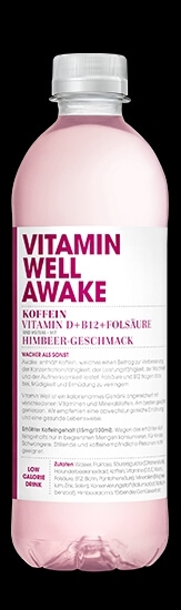 VITAMIN WELL Awake 12 x 500ml, Himbeer