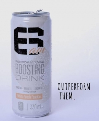 6AM Performance Boost Drink 24x 330ml, White Peach Passion
